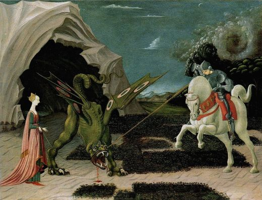 1200px Paolo Uccello 047b - Saint-Georges vainc le dragon