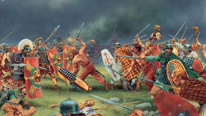 Rome et la Calédonie