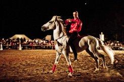 Reiter im Halbdunkeln