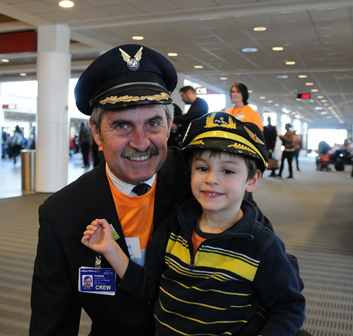 Wings for Autism pilot & child