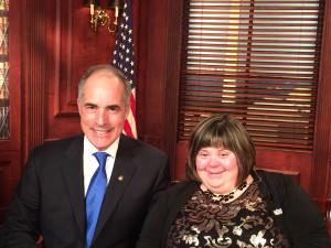 Senator Bob Casey and Sara Wolff