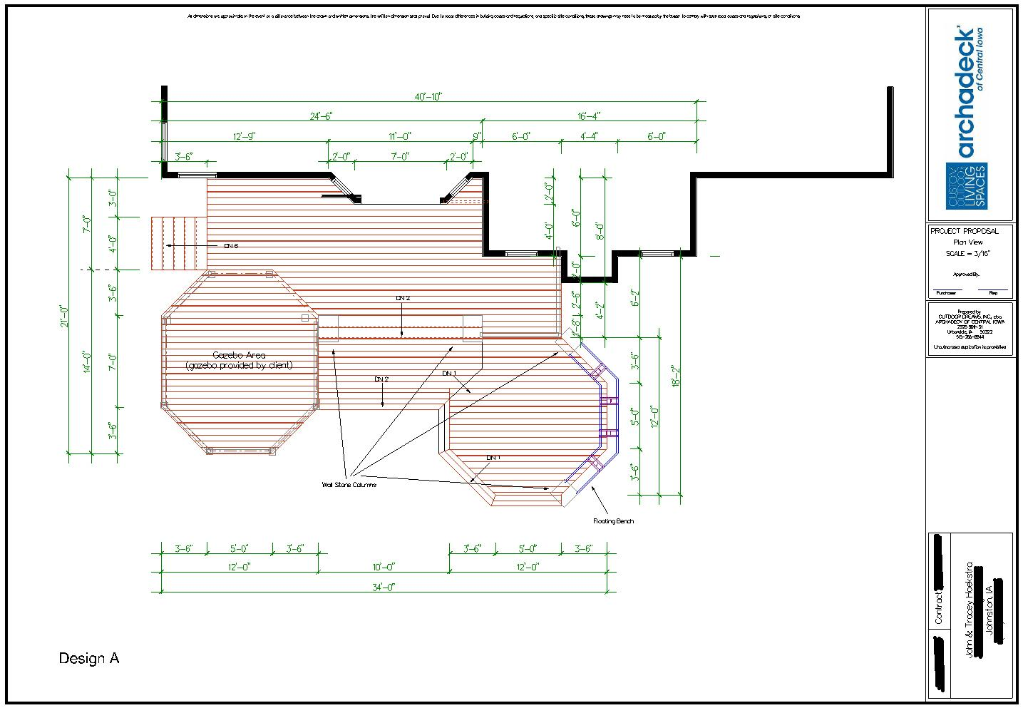 Better Building by Design - Johnston Deck/Gazebo Project ... on Patio Planner id=23135