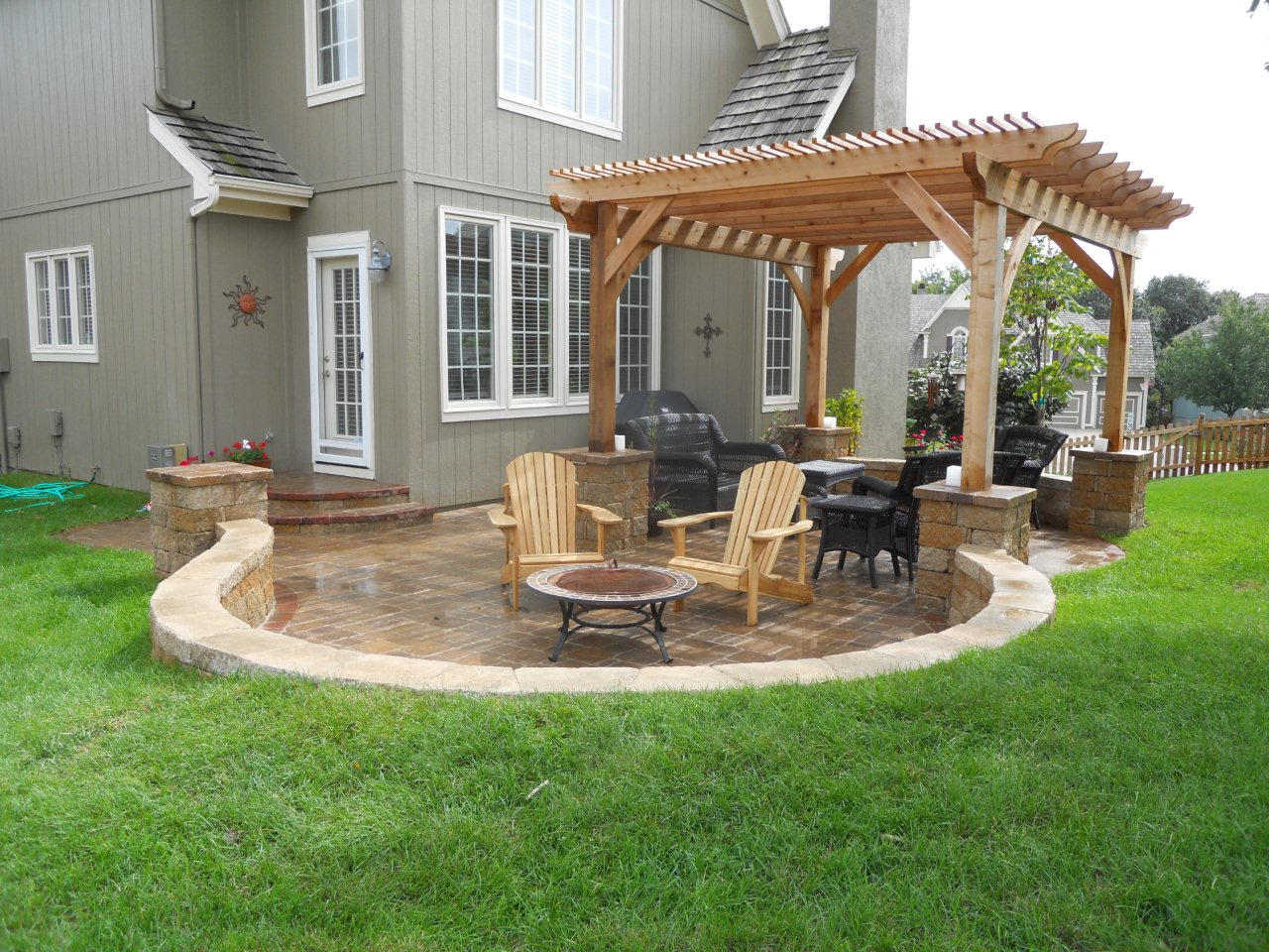 Two great outdoor living areas blend into one great multi ... on Cool Backyard Patio Ideas id=99655