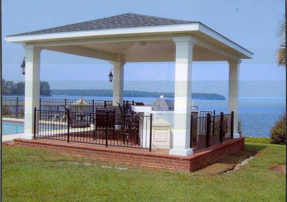 Lake Columbia SC docks | Custom Decks, Porches, Patios ... on Lakefront Patio Ideas id=61397