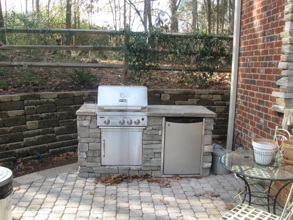 brick patio with outdoor kitchen Do I need a special grill or drop in grill for my