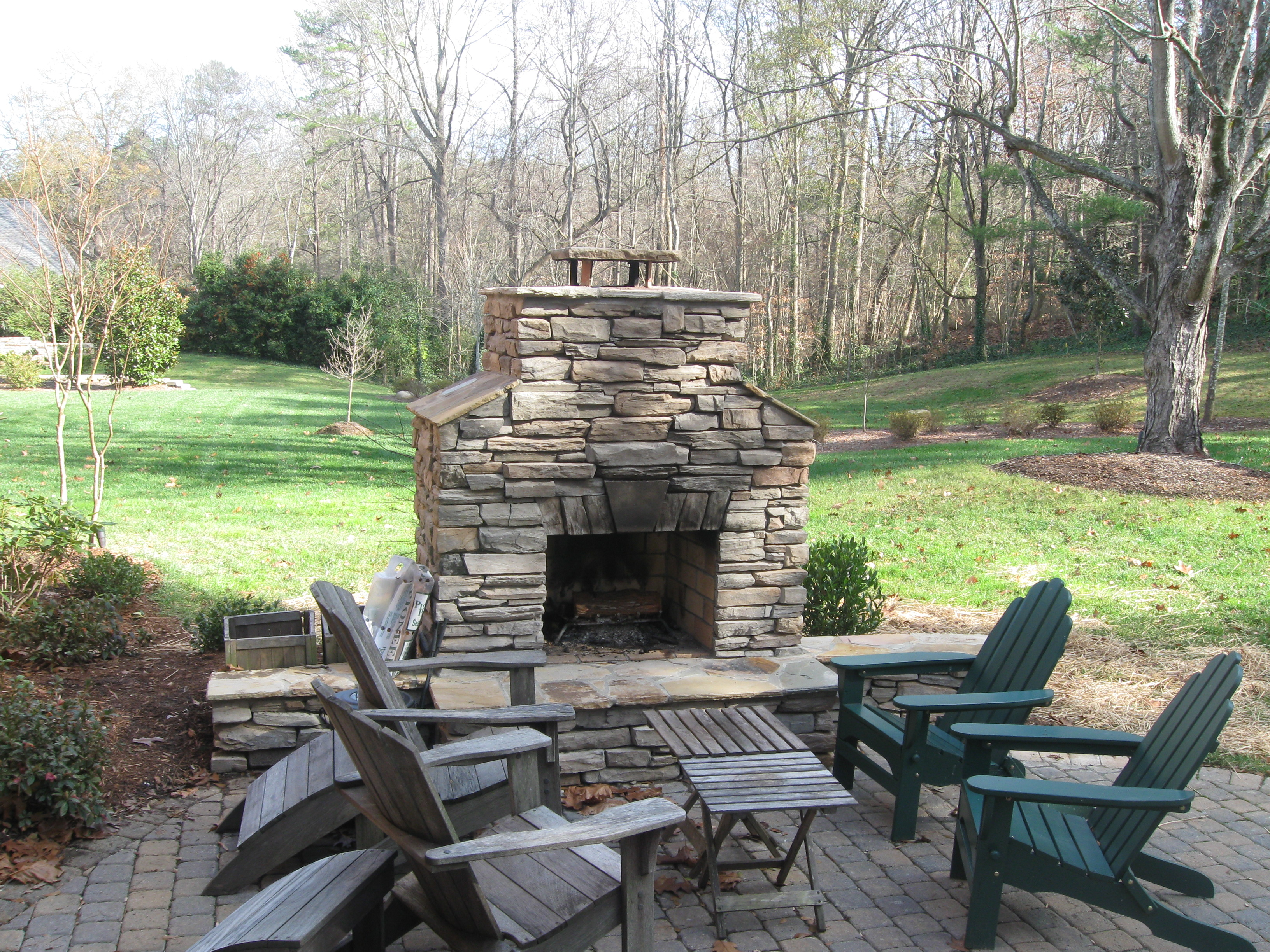outdoor firepit | Archadeck of Charlotte on Fireplace In Yard id=77635