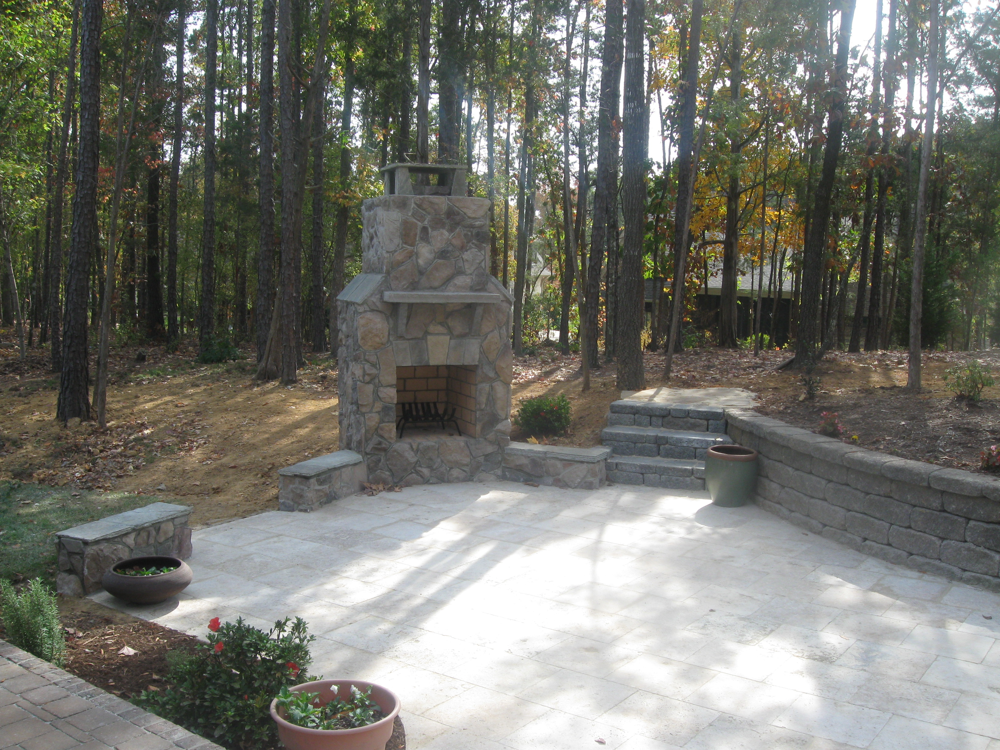 How much should an outdoor fireplace cost? | Archadeck of ... on Backyard Patio Cost id=54890