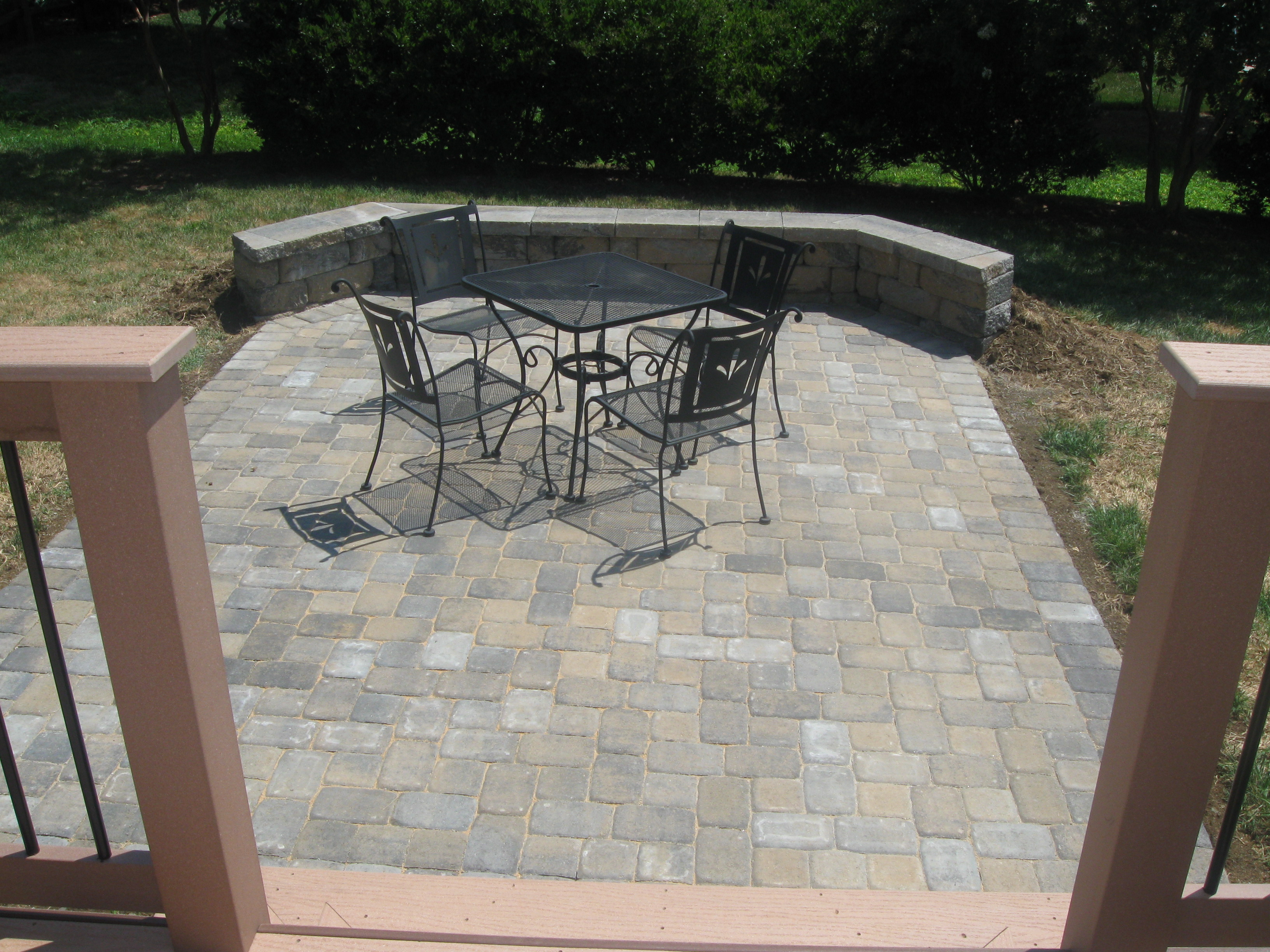 Deck and patio together? In Charlotte we do it all the ... on Deck And Paver Patio Ideas id=33238