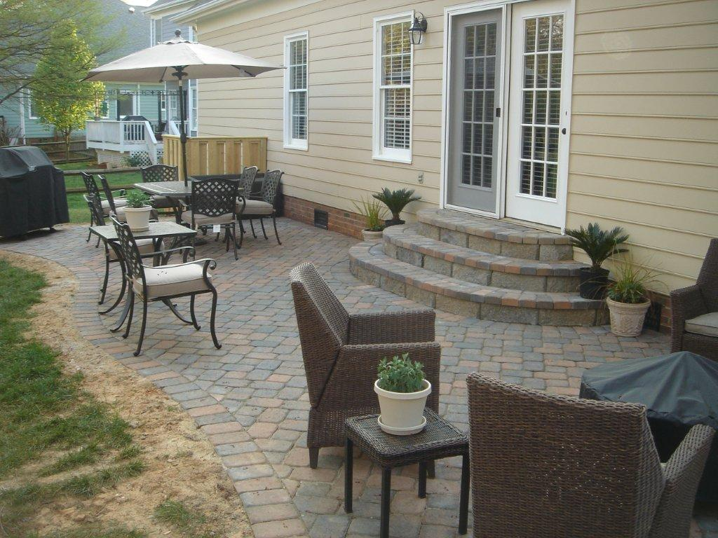 paver patio | Archadeck of Charlotte on Backyard Patio Steps  id=39733