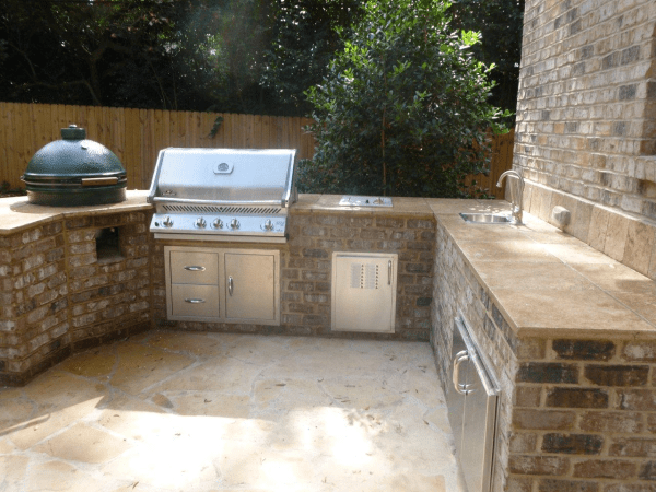 brick patio with outdoor kitchen Are Outdoor Kitchens really practical?   Archadeck of