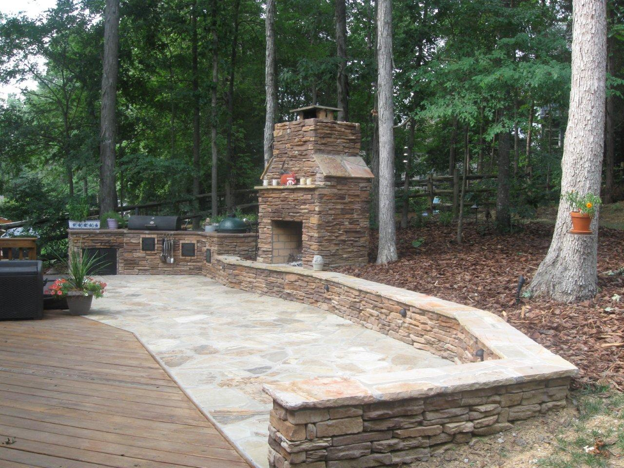 How can I get the best ideas for my outdoor living space ... on Rock Patio Designs  id=67840