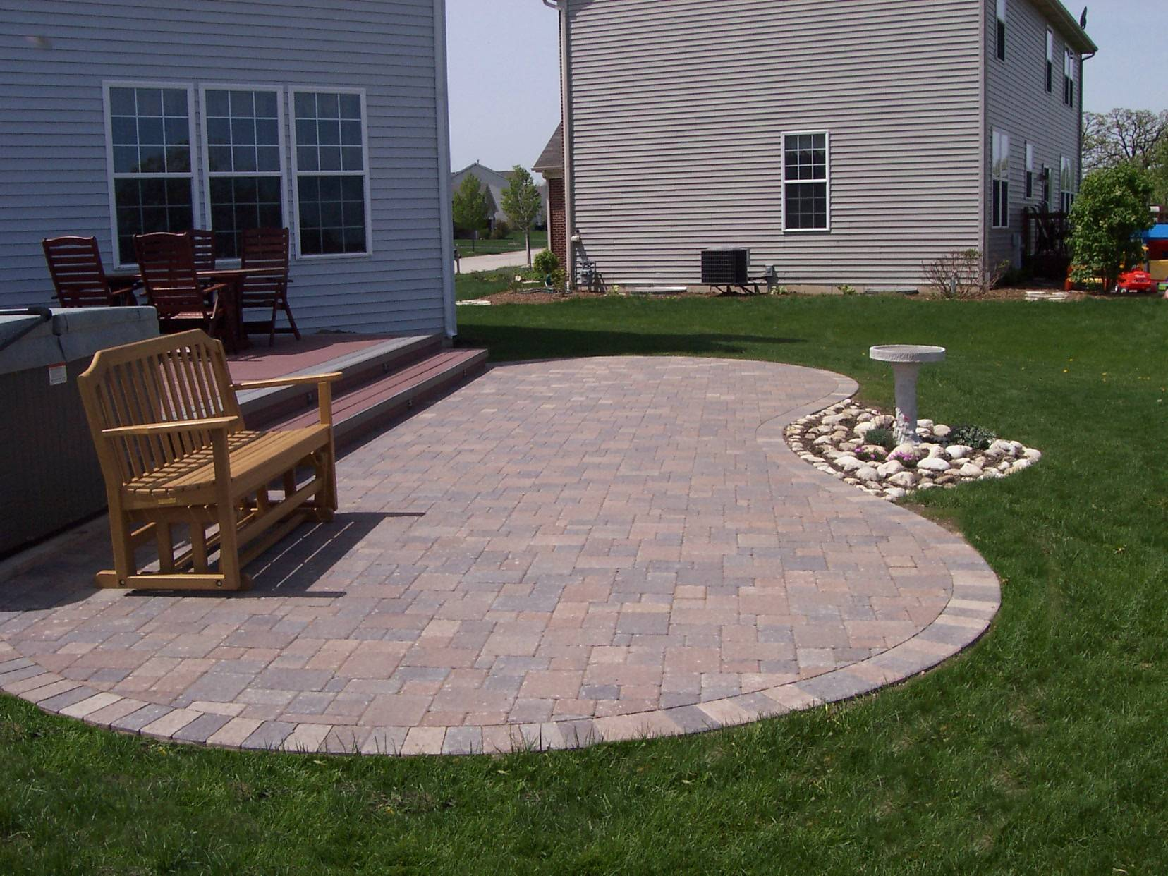 Curved Columbus paver patio - Columbus Decks, Porches and ... on Outdoor Pavers Patio id=22710
