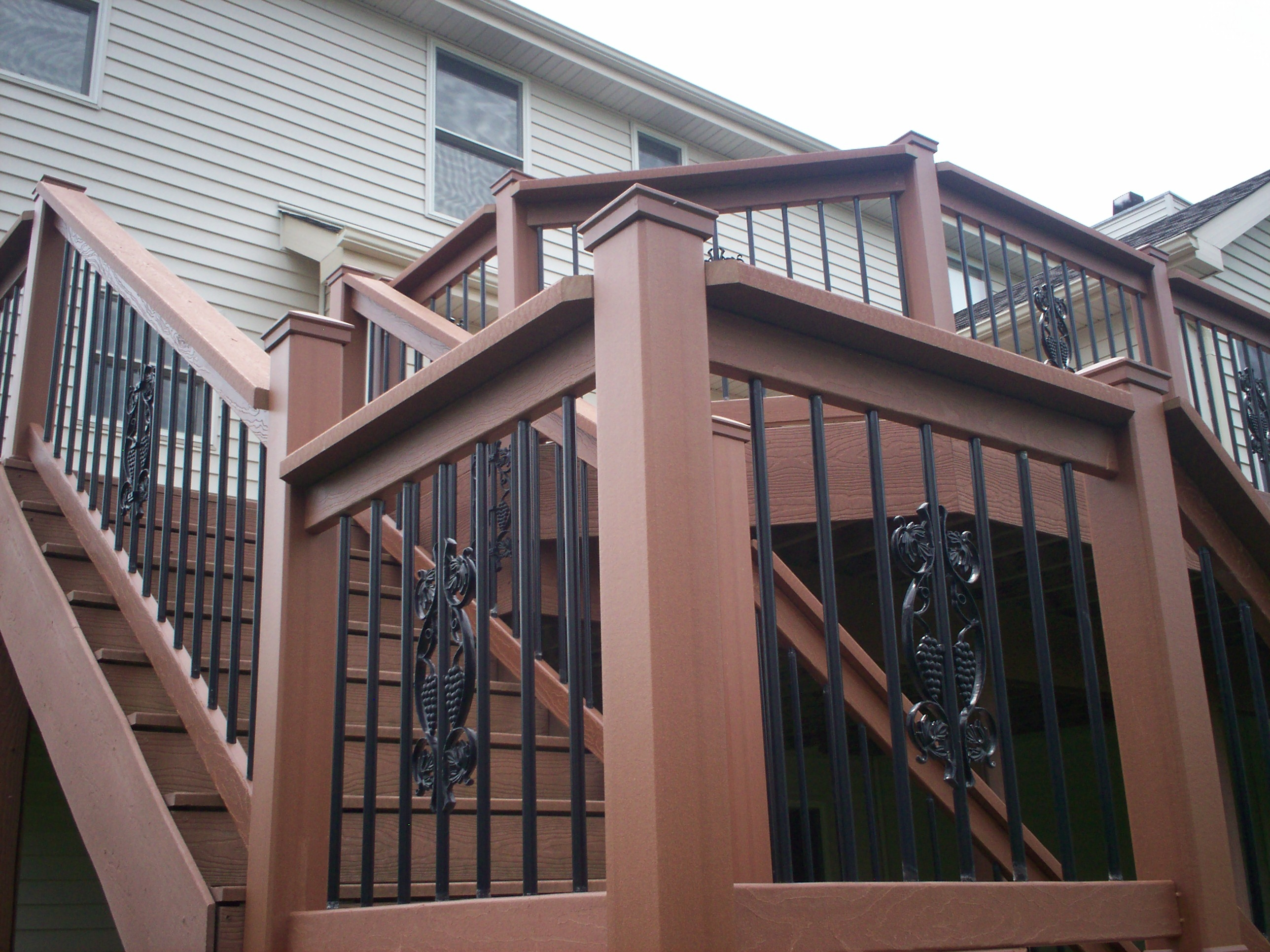 St Louis Deck Design Step It Up With Deck Railing And Stairs   Menards Wrought Iron Railing   Handrail   Deck Railing   Spindles   Fence   Cattail