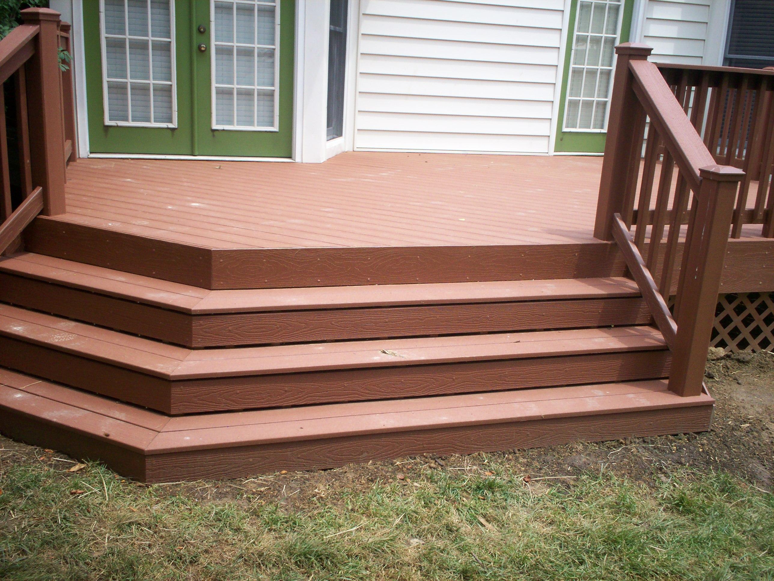 St. Louis Decks: Wide Deck Stairs | St. Louis decks ... on Backyard Stairs Ideas id=35358