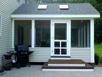 Screened Porch Ideas for a Small Backyard   St. Louis ... on Back Patio Porch Ideas id=56906