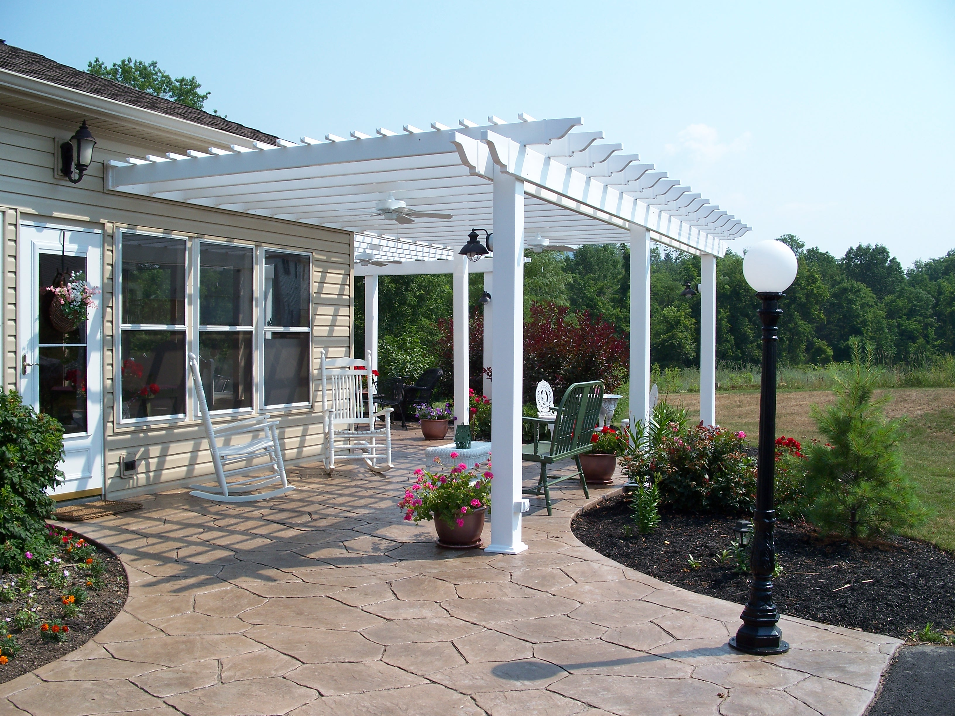 Pergola Design Ideas for Every Outdoor Space by Archadeck ... on Deck Over Patio Ideas id=86905