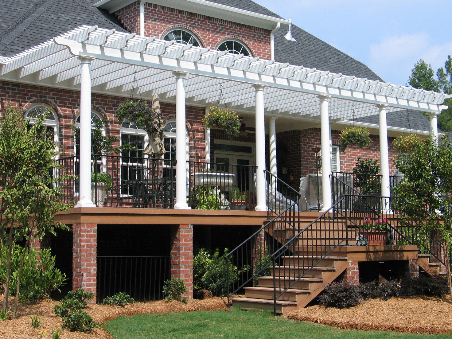 Pergola Design Ideas for Every Outdoor Space by Archadeck ... on Deck Over Patio Ideas id=81086