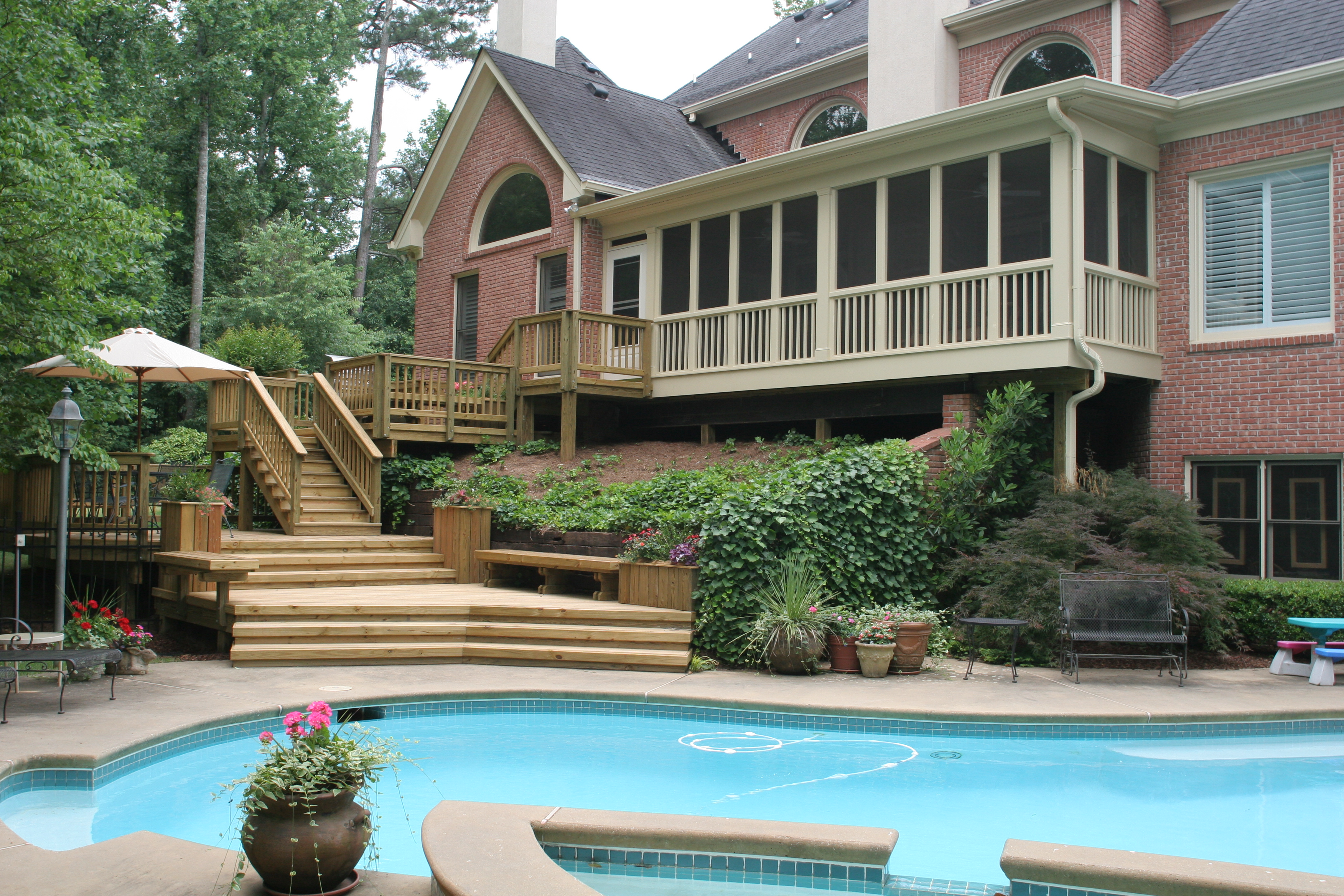 Deck, Pergola, and Porch Designs for Pools | St. Louis ... on Pool Deck Patio Ideas  id=45037