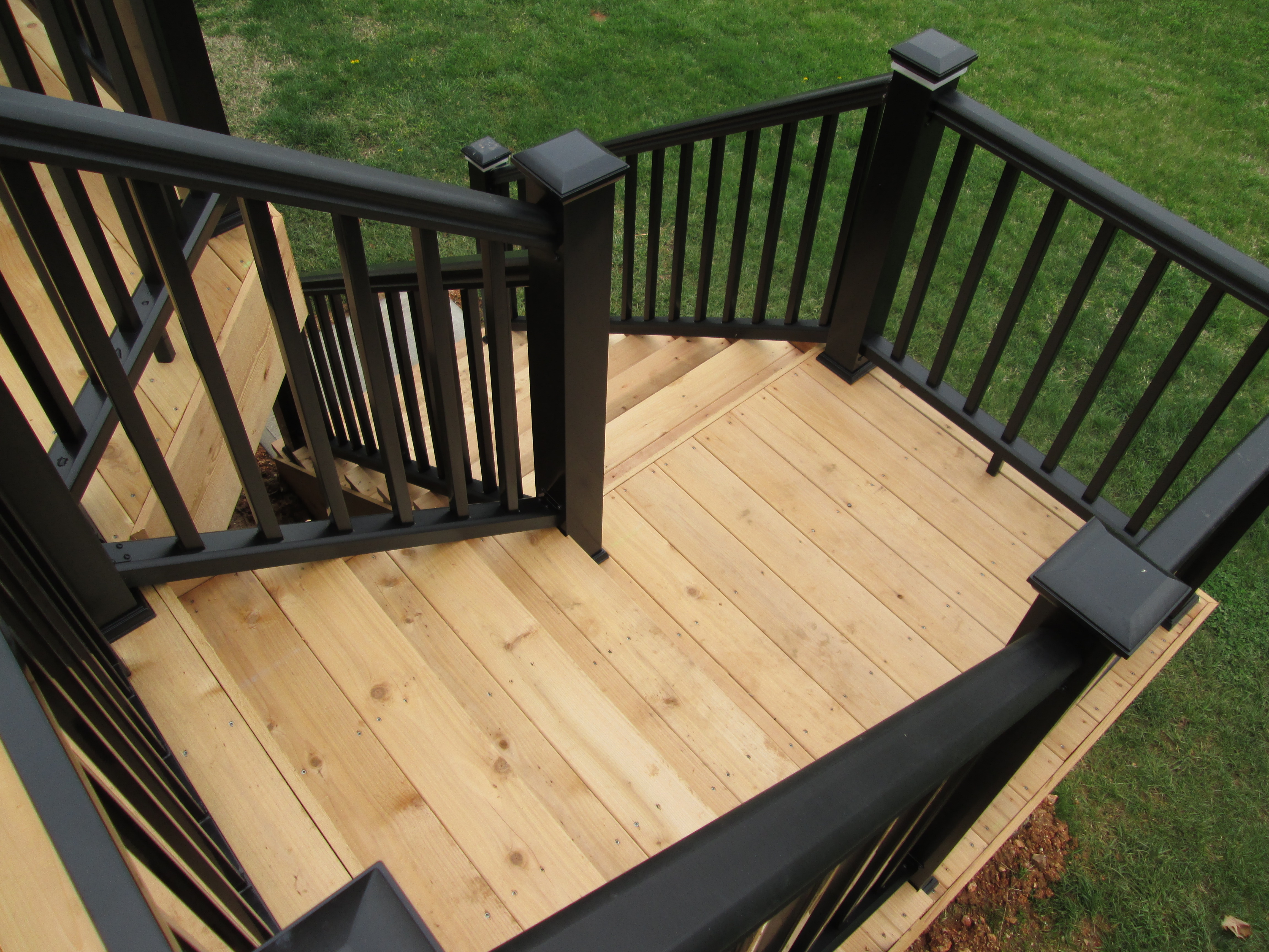 Deck Stairs | St. Louis decks, screened porches, pergolas ... on Backyard Stairs Design id=83483