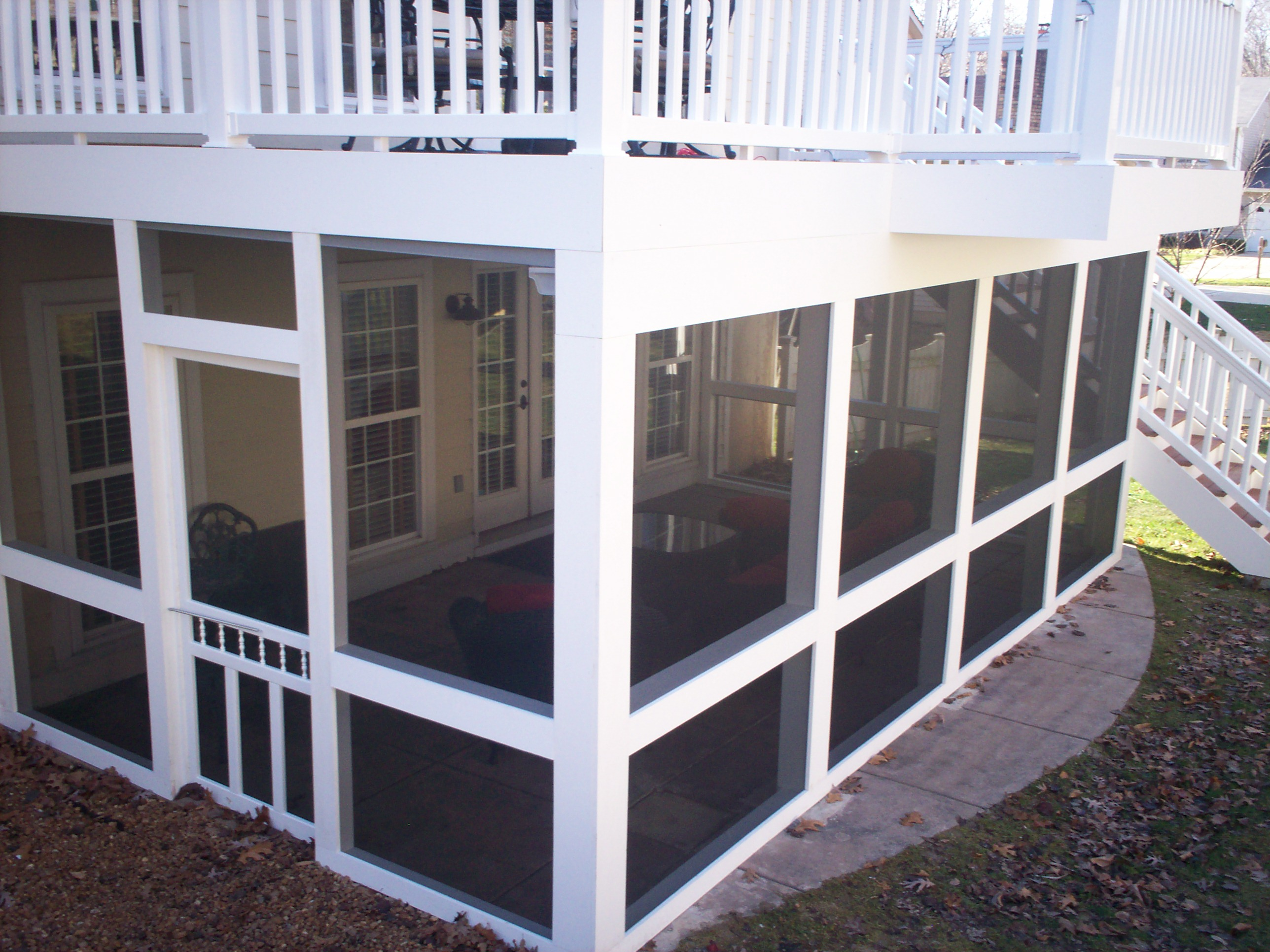 Screened Porches | St. Louis decks, screened porches ... on Deck Over Patio Ideas id=42661