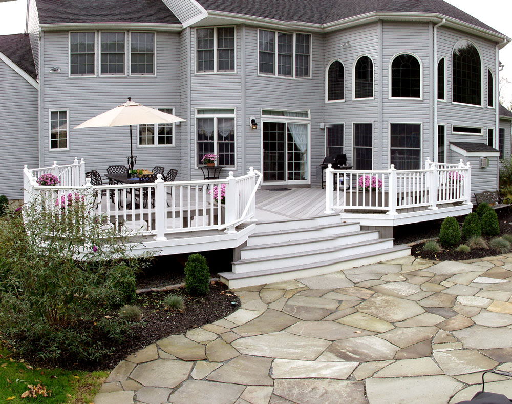 Deck Railing Ideas: How To Choose The Best Rail Design for ... on White Patio Ideas id=43808