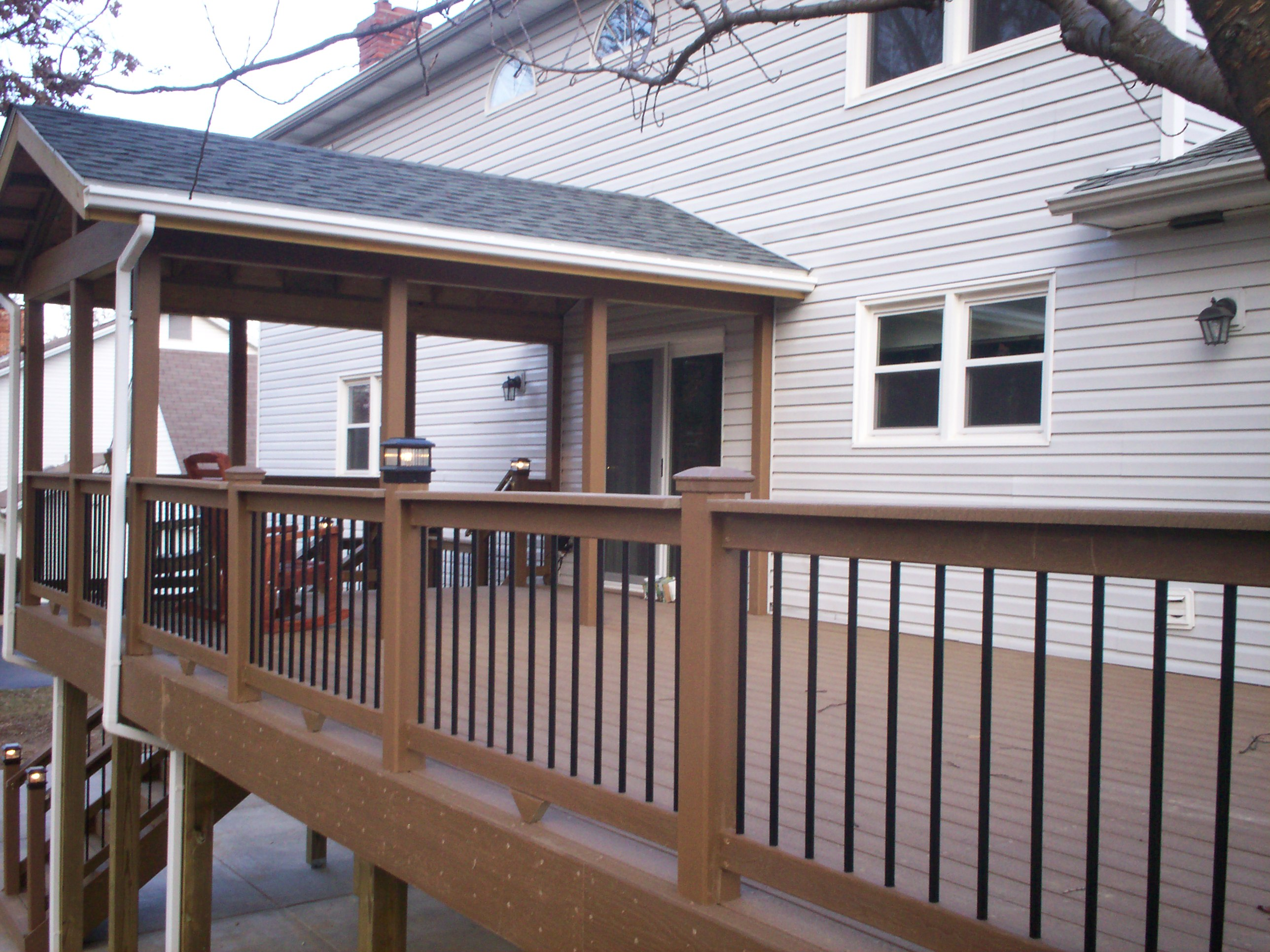 How To Cover Your Deck, Patio or Porch for Any Price by ... on Deck Over Patio Ideas id=15941