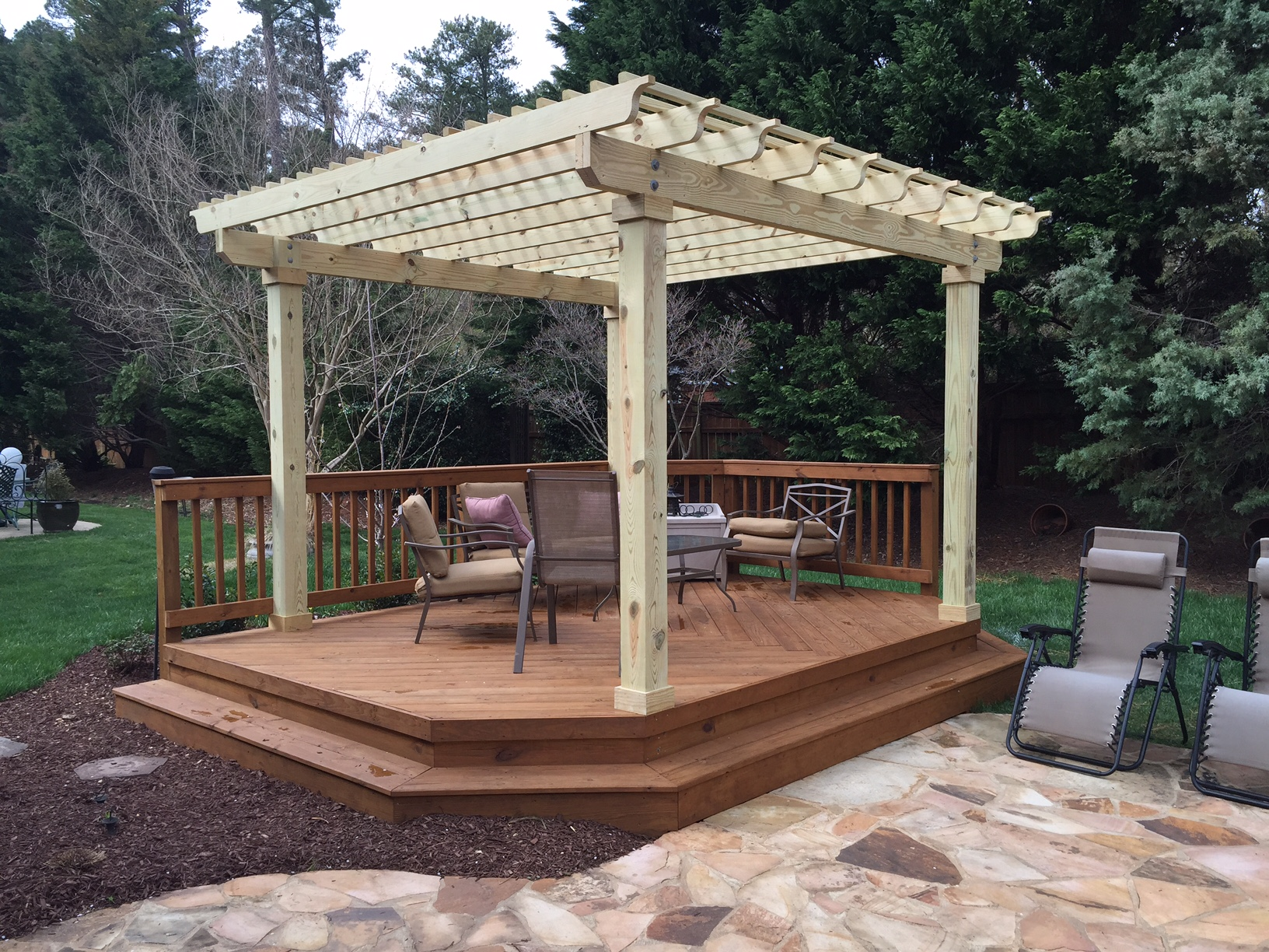 How To Cover Your Deck, Patio or Porch for Any Price by ... on Covered Pergola Ideas  id=59816