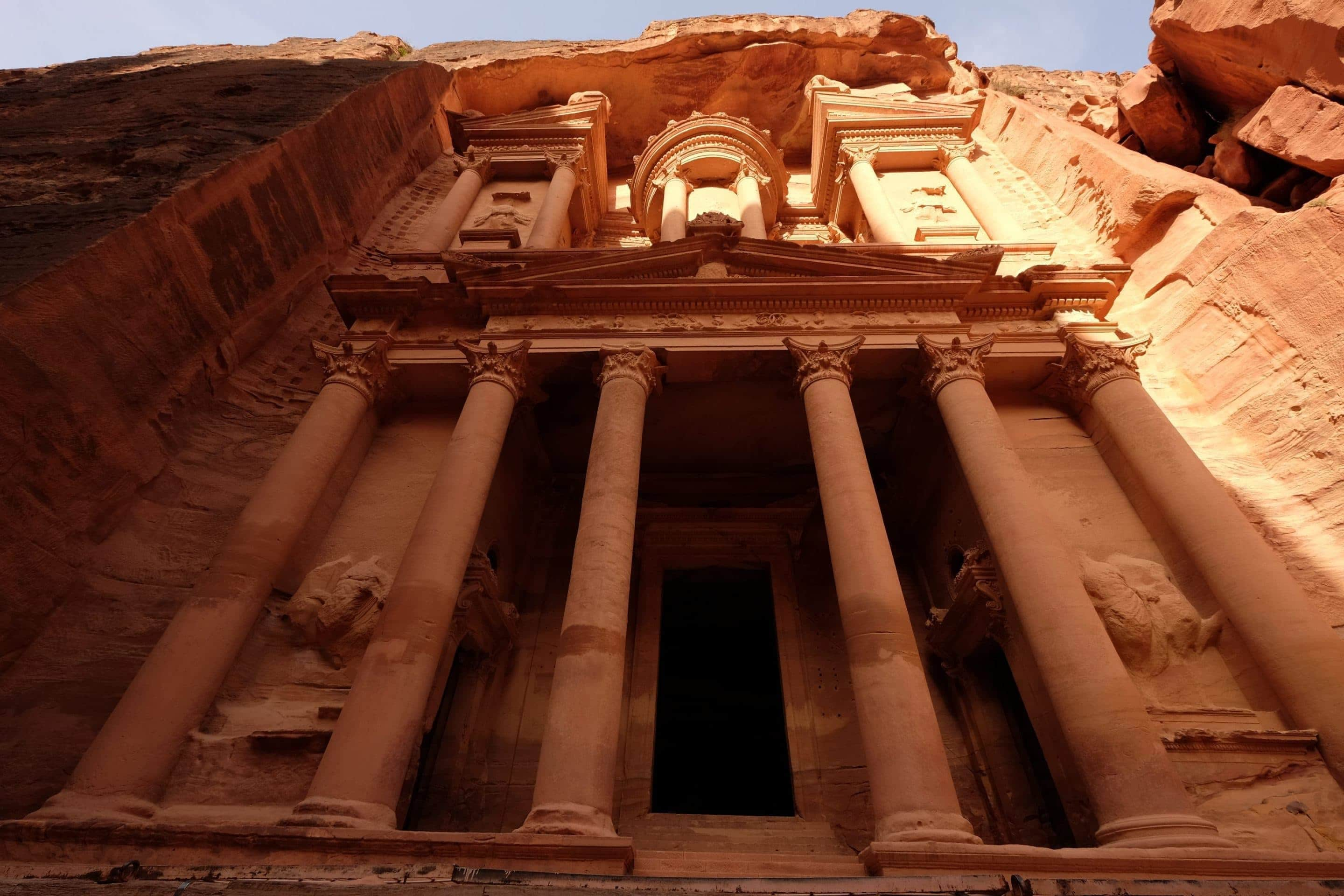 Greetings from the middle easts top eco destination jordan petras famous treasury looms over visitors s they come out of the siq its very kristyandbryce Choice Image