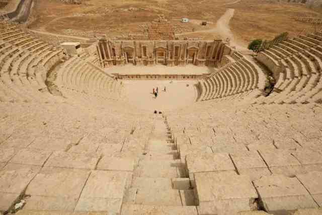 One of Jerash's two amphitheatres. Photo: Genevieve Hathaway Photography.