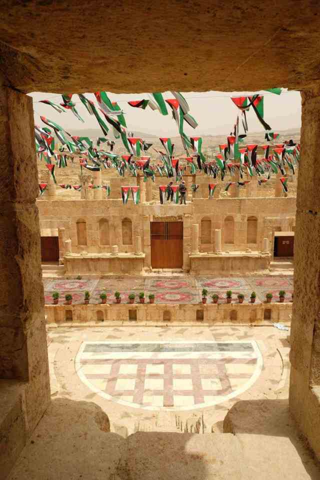 Second theatre decorated for a Jordanian holiday. Photo: Genevieve Hathaway Photography.