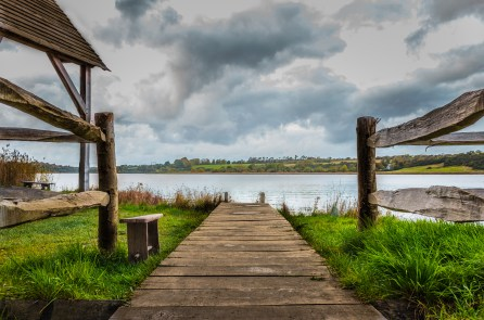 A view from the Viking house at Ferrycarrig HeritageCentre