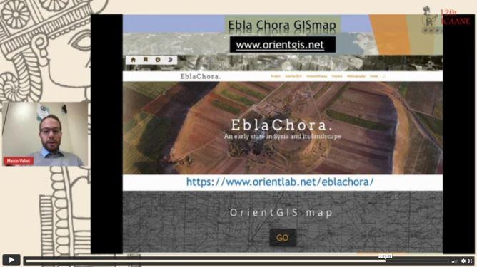 Screenshot of an online presentation by Marco Valeri.