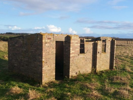 One of the many upstanding buildings which still survive at RAF Fearn
