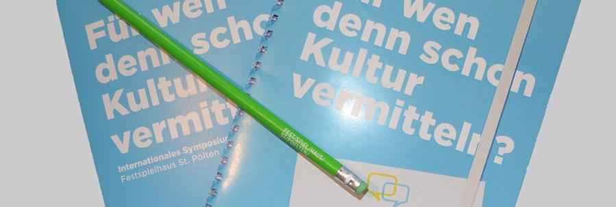 Symposium Kulturvermittlung St. Pölten, 23.–24.01.2015