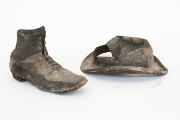 Boots and bowler hats were among the eclectic contents of the hoard - image: ORNC