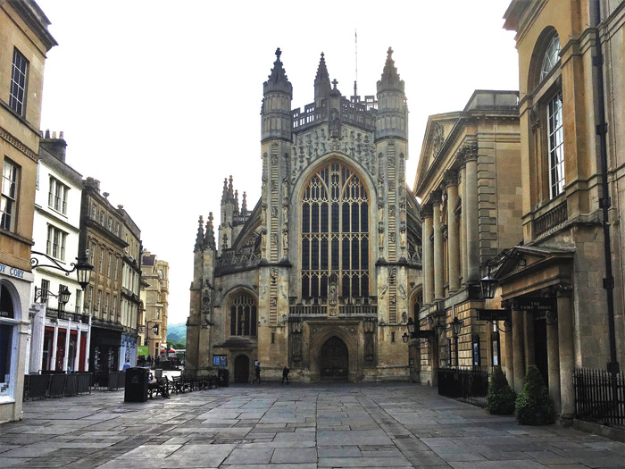 The present Bath Abbey from the outside