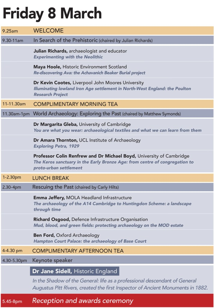 Timetable for Current Archaeology Live! 2019