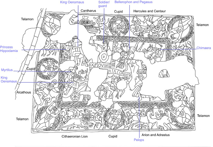 Lindsey Bedford's drawing annotates the elaborate imagery
