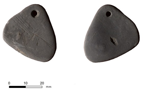A unique engraved shale pendant from Star Carr