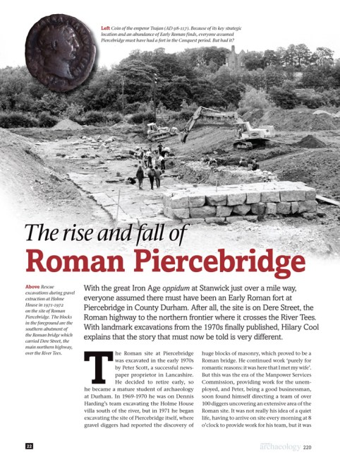 An article in CA titled 'The rise and fall of Roman Piercebridge'