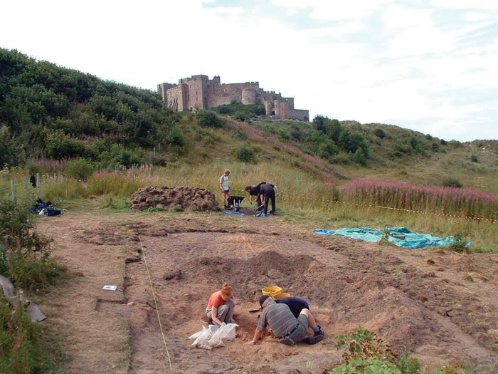 Excavation of the Anglo-Saxon cemetery site