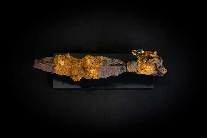 The spearhead from the burial after cleaning