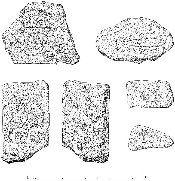 Sketches of Pictish symbol stones