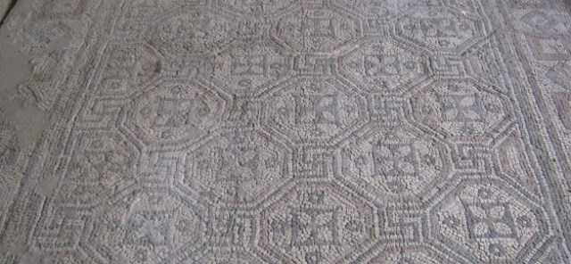 Unique Early Christian mosaics from the Bishop John's Basilica in the Ancient Thracian and Roman city of Parthicopolis, in today's Sandanski in Southwestern Bulgaria. Photo: visitsandanski.eu