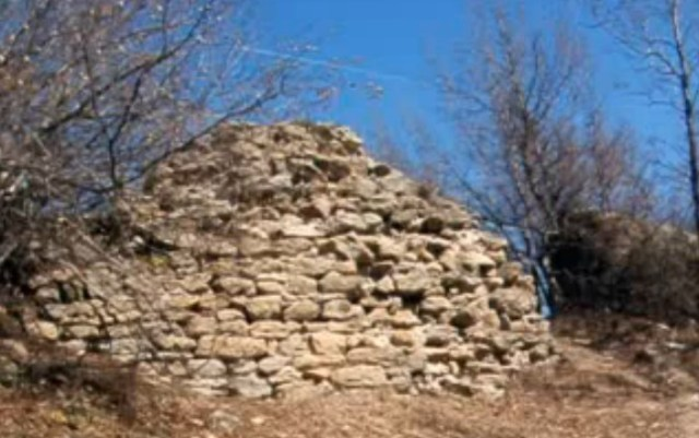 One of the few standing parts of the fortress wall of Buzovo Kale near Bulgaria's Buzovgrad and Kazanlak. Photo: TV grab from Vbox7