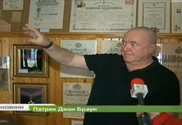 Englishman Patrich John Brown, who residents in Avren on the Bulgarian Black Coast, collects and preserves artifacts from Bulgaria's exciting military history in the first half of the 20th century. Photo: TV grab from BNT 2