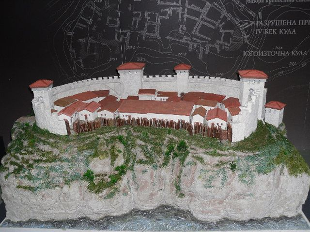 A reconstruction model of the Kaleto Fortress in Bulgaria's Mezdra. Photo: ARchaeological Complex Kaleto