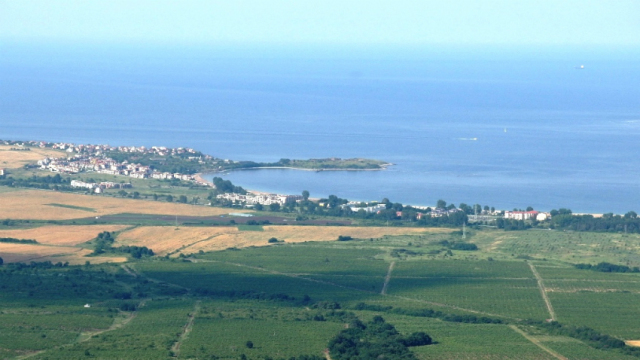 "The Black Sea Cape Chervenka, also known as Chrisosotira, or ""Golden Savior, Golden Christ"", near Bulgaria's Black Sea resort town of Chernomorets. Photo: Assoc. Prof. Ivan Hristov, National Museum of History"