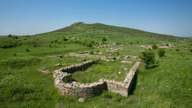 Part of the ruins of the Ancient Thracian city of Kabile, one of the residences of the Thracian Kings from the Odrysian Kingdom, which is located near today's Bulgarian city of Yambol. Photo: Yambol District Administration