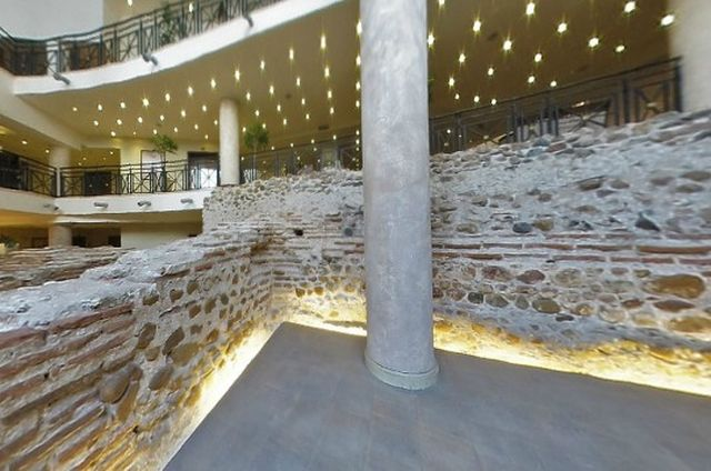 Ancient Roman ruins from structures located near the amphitheater of Serdica incorporated into the basement of the Arena di Serdica hotel in Bulgaria's Sofia. Photo: Arena di Serdica hotel